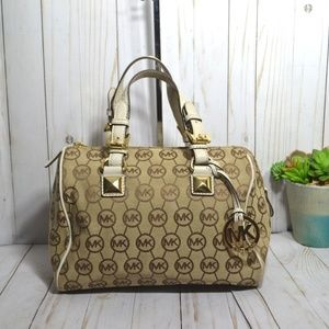 Michael Kors Small Grayson Monogram Satchel Bag